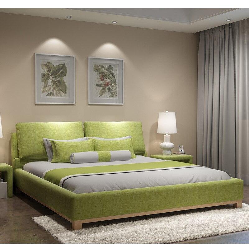US $450.0  180X200 cm Europeo a pelo morbido letto mobili camera da letto 2  superficie 4 colori opzionale-in Set per camera da letto da Mobili su ...
