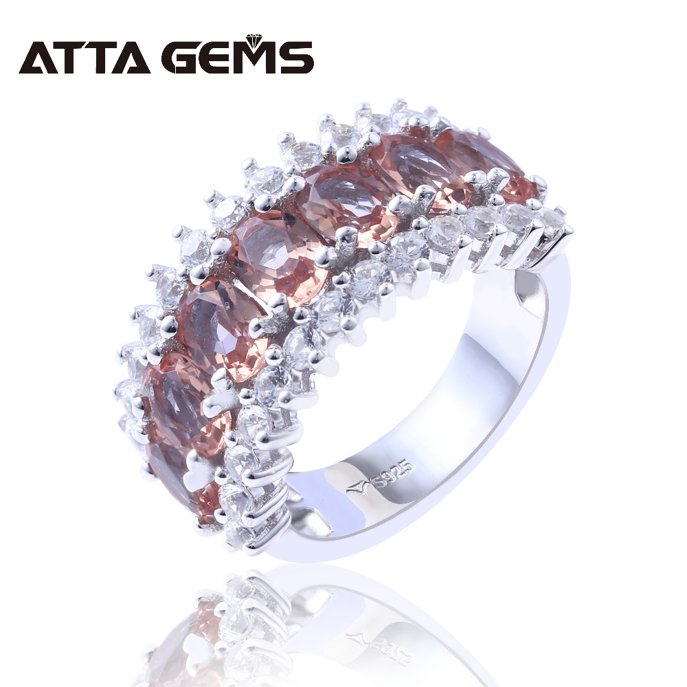 Zultanite Sterling Silver Rings for Women Wedding Engagement Band 6 8 Carats Created Zultanite Faced Cut