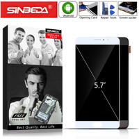 5.7Sinbeda AMOLED For MEIZU Pro 6 Plus LCD Screen with Frame For Meizu Pro6 Plus Display Pro 6P Screen For Meizu Pro6 + Display