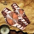 Chegam novas Moda Amante Relógios Das Mulheres Dos Homens Amantes do Café Golden Quartz relógio de Pulso Analógico Noctilucentes Relógio Par para Casais Presente