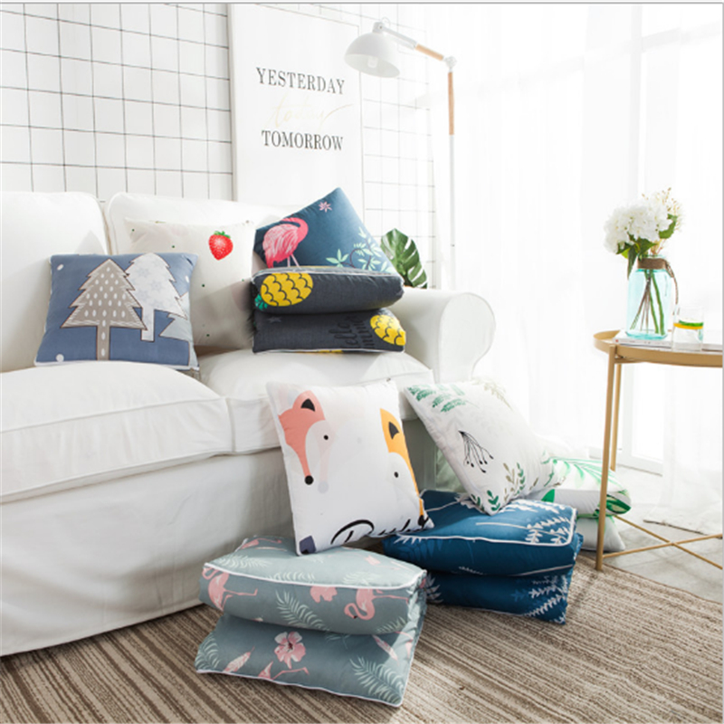 Ins Nordic Wind Office Pillow Dual use Car cushion sofa Multifunctional quilt Nap Children 39 s quilt C50 in Cushion from Home amp Garden