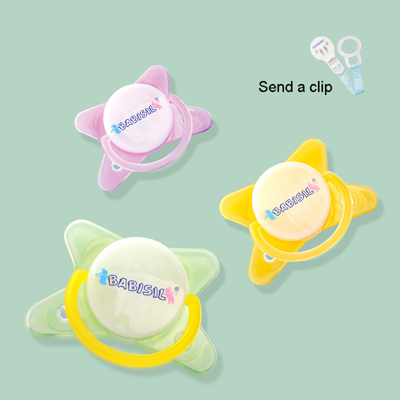 Baby Pacifier Pink Safe Food Grade Silicone Infant Funny Baby Sucette Teeth Soothers Pac ...