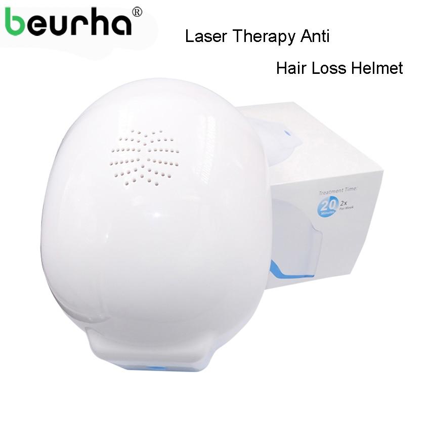Beurha Laser Therapy Hair Growth Helmet Device Laser Treatment Hair Loss Promote Hair Regrowth Laser Cap Massage Equipment недорого