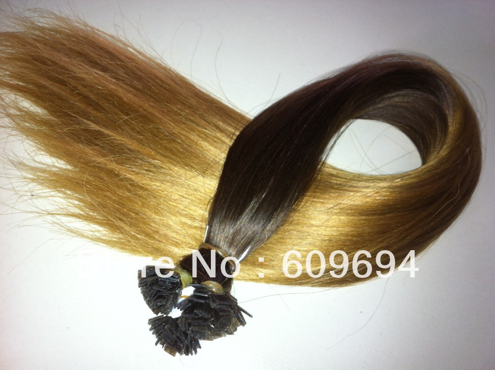 Compare prices on grade aaa indian remy hair extensions online 20 1gs 100g flat tip hair ombre two tone dip dye hair extensions pmusecretfo Image collections