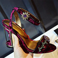 Designer Cage Heel Women Rhinestone Sandals Peep Toe High Heels Women Pumps Wedding Dress Shoes Woman Stiletto Cinderella Shoe