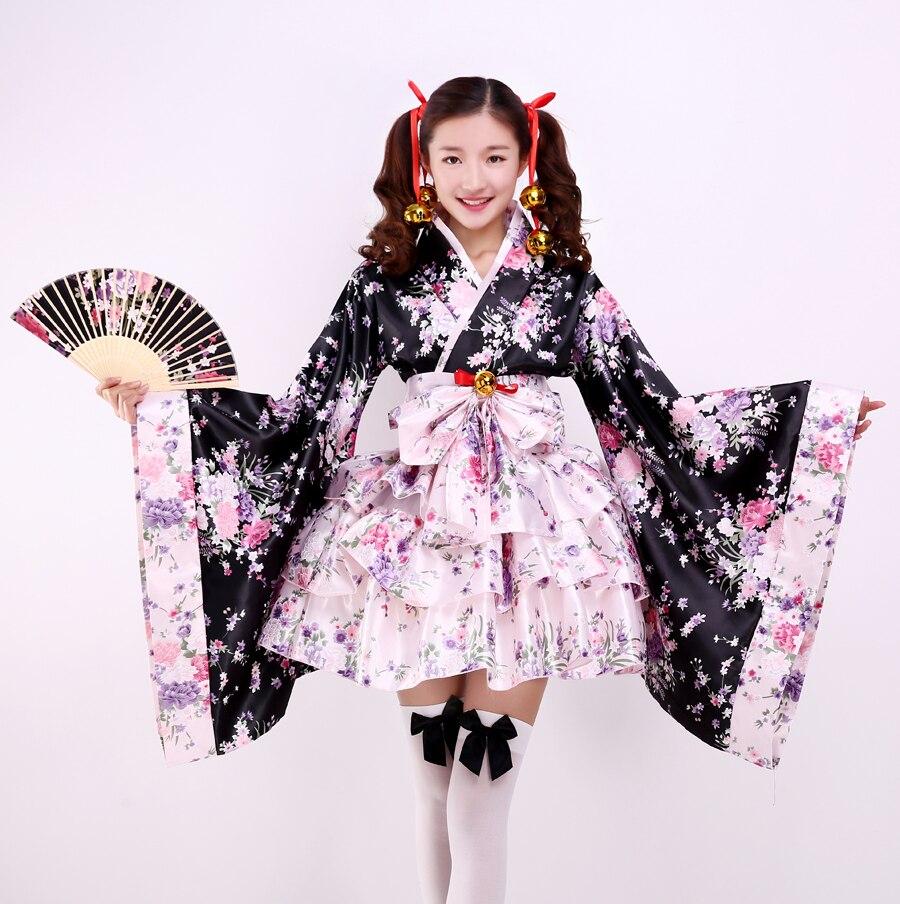 Tenue de servante kimono terre pure Bliss cos ancien japonais anime ensemble complet belle Lolita femme Cosplay vêtements