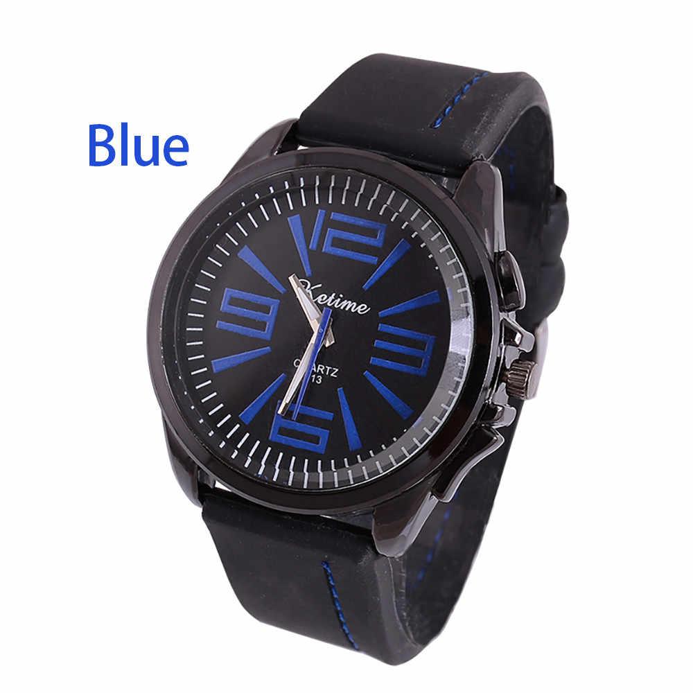 Ocasional Dos Homens de Negócios Relógios Silicone Banda Sports Relógio De Pulso Relógio de Homens Relógios de Quartzo Relogio masculino Esportivo para o sexo masculino