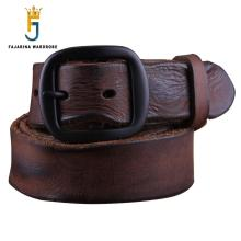 FAJARINA Top Quality Mens Personality Men's Folded Cowhide Genuine Leather Western Retro Styles Cow Skin Belts for Men N17FJ091