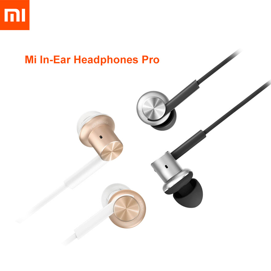 Original Xiaomi Mi Hybrid Earphones Wired Control Piston Dual Driver Dynamic Stereo Headset Circle Iron With Mic Circle HIFI 100% original xiaomi hybrid pro hd earphone with mic in ear hifi noise canceling headset circle iron mixed for xiaomi note4 mi 6
