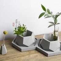 DIY Succulent Pot Molds Silicone Conrete Pot Molds Garden Pots Molds Geometry Flower Pot Molds