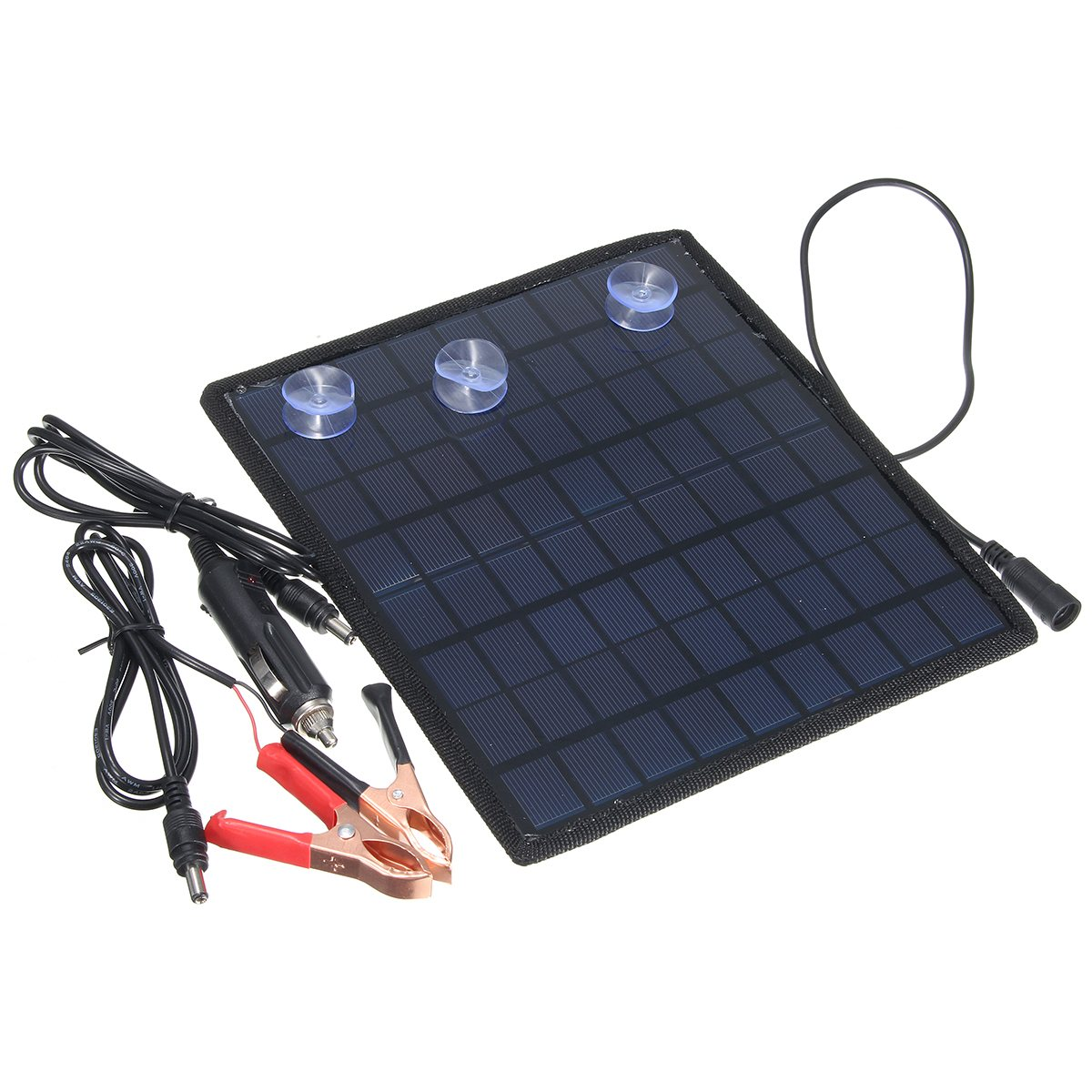 High Tech 12V Solar Panel Car Charger Battery Charger Solar Maintainer Charger for Car Automobile Motorcycle External Battery