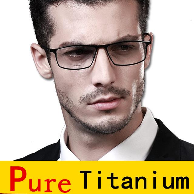 Ultra light titanium óculos frames homens vidros ópticos quadro marca óculos de leitura claros terno lentes de prescrição de óculos