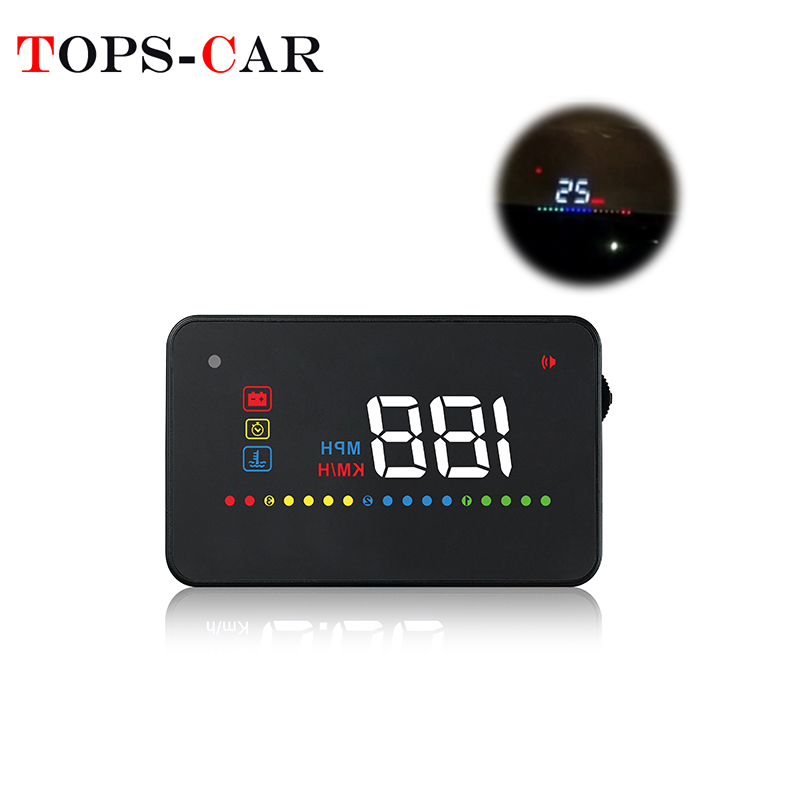 GEYIREN A200 Car HUD OBD II OBD2 Overspeed Warning System Projector Windshield Water Temperature Voltage Alarm Head-Up Display