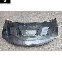 Подходит для карбонового волокна крышка капота двигателя с отверстиями для Honda Fit Car body kit 13 18