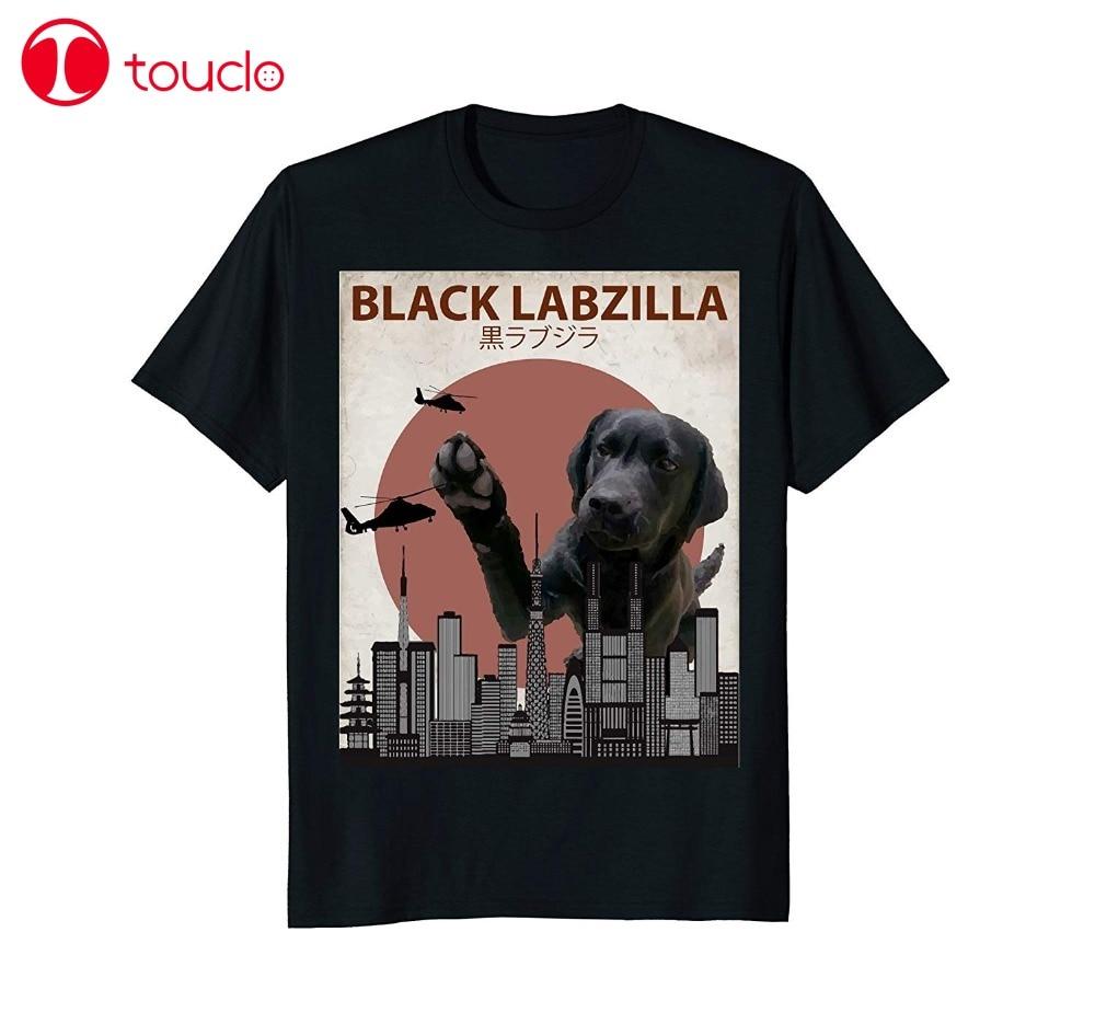 New Fashion T Shirt Graphic Letter Black Labzilla | Funny Labrador Retriever Lab Dog T-Shirt T Shirts Hoodies
