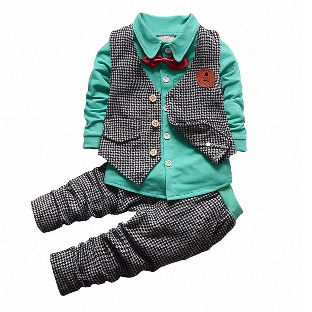 This adorable 3-Piece Camo Vest, Bodysuit, and Pant Set from carter's adds a touch of rugged style to your baby's closet. The cool outfit features a grey bodysuit, faux denim jean, and a camo print vest to complete the look.