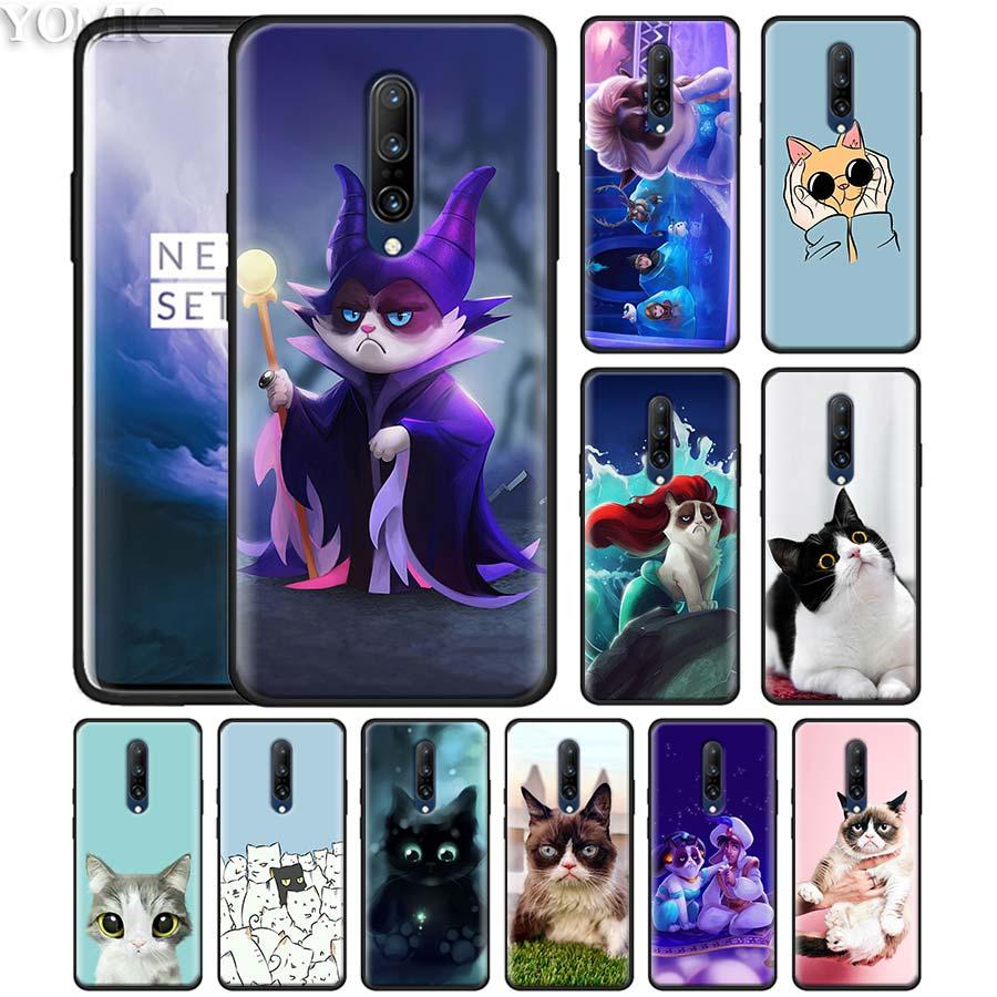 Cute lovely Black Cat Phone Case for font b Oneplus b font font b 7 b