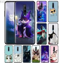 Cute lovely Black Cat Phone Case for Oneplus 7 7Pro 6 6T Oneplus 7 Pro 6T Black Silicone Soft Case Cover