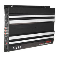 C 266 5800W 4 Channel High Power Car Audio Amplifier Bass AMP Aluminum 12V DC