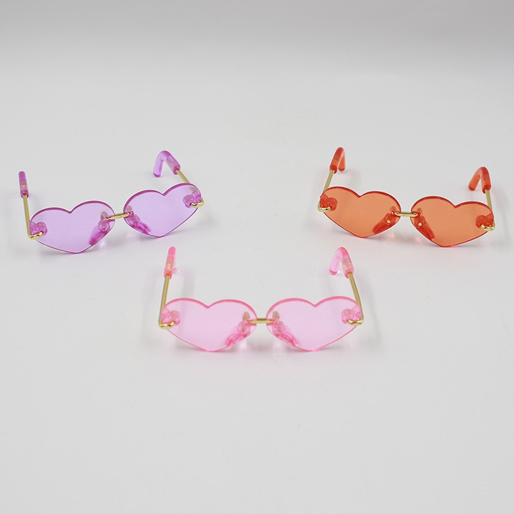 Neo Blythe Doll Heart & Boxes Shaped Glasses 8