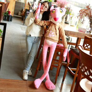 Image 3 - 1PC 55 150CM High Quality Big Size Baby Toys Plaything Cute Naughty Pink Panther Plush Stuffed Doll Toy Home Decor Kids Gift