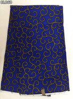 (6 meter/stuk) koningsblauw real katoen wax stof ankara stof afrikaanse java wax gedrukt stof voor trouwjurk! 8L860