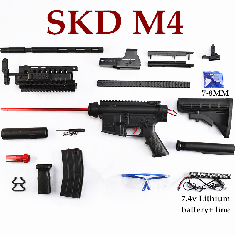 Nylon SKD M4SS Gel Ball Blasters Shooter Electric Water Toy Guns For children DIY Outdoor Game CS