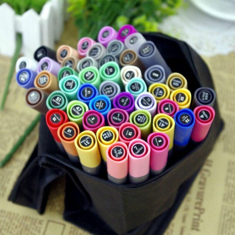 STA 128 Colors Art Marker 3202 Alcohol Oily Doubles Color Mark Pen Design Pen Color Hand Painted Marker Full Set