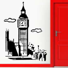 Compare Prices POOMOO Wall Paintings Wall Stickers Vinyl Decal Big Ben London England Cool Travel Decor