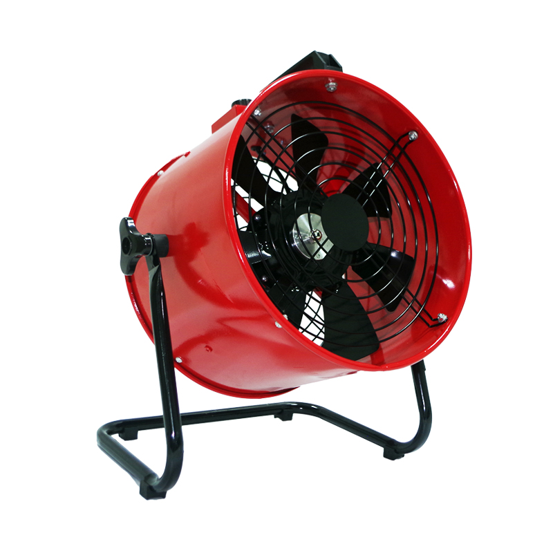 12 Inch Blower Portable Axial Exhaust Fan Standing Extractor High Speed Air Ventilator Stepless Regulation 300mm 220V