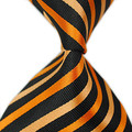 2016 new brand striped orange black Jacquard Woven tie silk neckties for men Wedding Business Accessories150 cm long