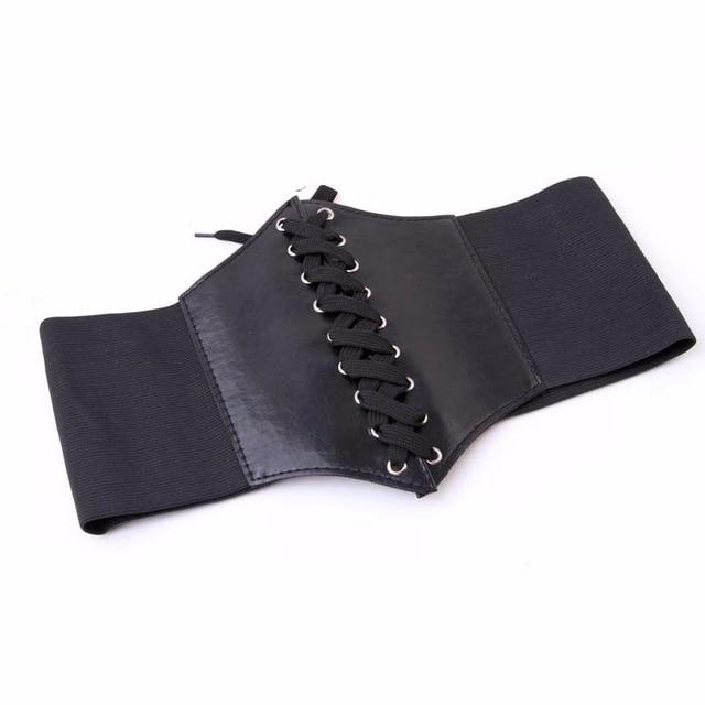 Corset large pu en cuir designer cummerbunds sangle ceintures pour femmes,  Élastique Serré Taille Haute dd3900629e5