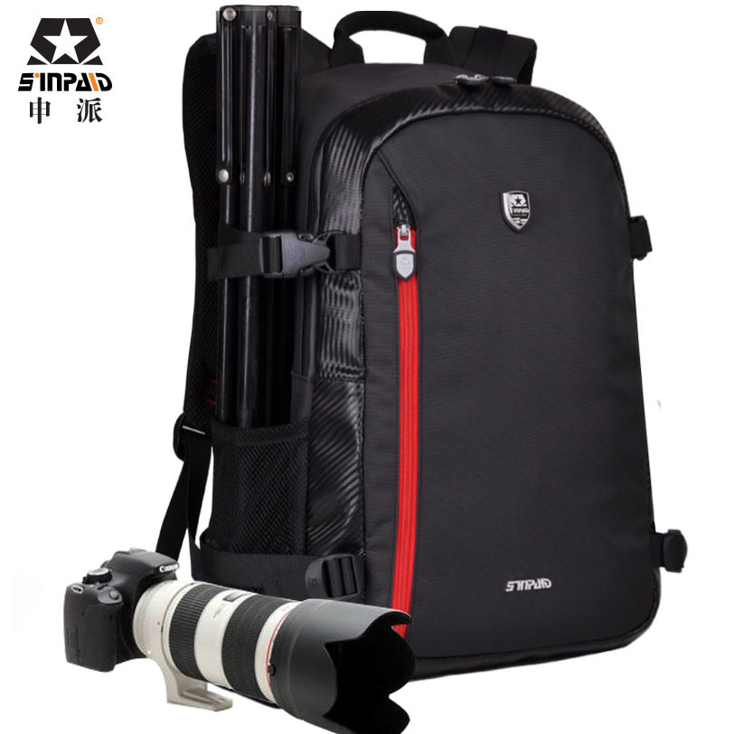Large DSLR Bag Backpack Shoulder Camera Case for Nikon Canon Sony Fujifilm Digital Cameras купить