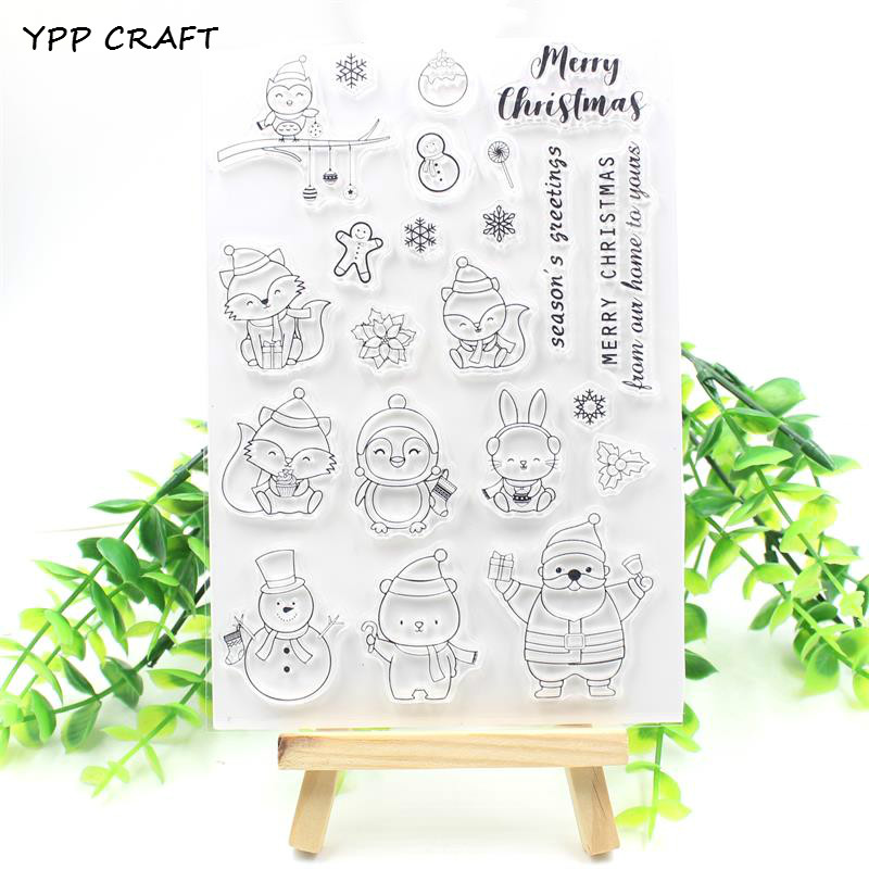 YPP CRAFT Christmas Animals Transparent Clear Silicone Stamp/Seal for DIY scrapbooking/photo album Decorative clear stamp sheets chicken animals transparent clear silicone stamp seal for diy scrapbooking photo album decorative clear stamp sheets a547