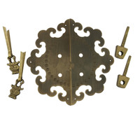 155mm Dia.Brass Kitchen Drawer Cabinet Door Handle Furniture Knobs Hardware Cupboard Antique Pull Handles,Bronze Tone