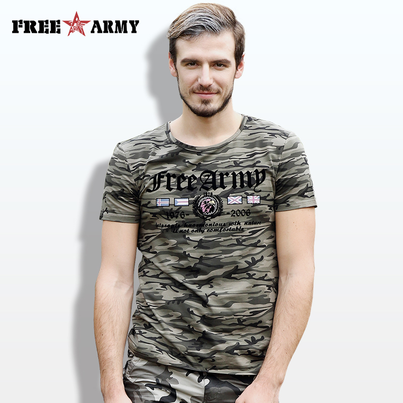 Designer Sommer T-shirt Männer Kurzarm T-shirts Baumwolle Flagge Druck Military Camouflage T-shirts Anti-Moskito Tees Tops