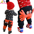 HE Hello Enjoy boys pants 2017 autumn winter baby boys trousers casual cartoon kids girls leggings print A crab lace harem pants