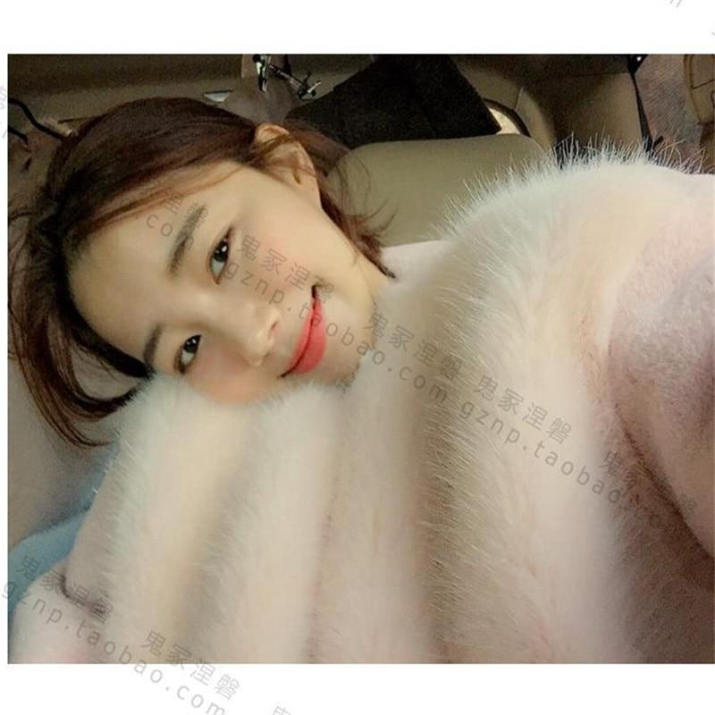 2019 Yeni Kış Kadın Kürk Kore Tarzı Pembe Güzel Moda En - Bayan Giyimi - Fotoğraf 6