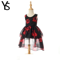 2 9 Years Baby Girls Dress Kids Princess Dress Sleeveless Toddler Mini Dress Children Clothes Cotton
