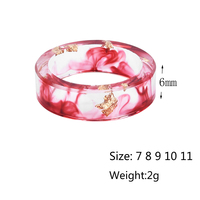 LIEBE ENGEL Hot Sale 8 Colors Gold Foil Paper Inside Resin Ring For Women And Men Jewelry Colorful High Quality Handmade Ring 5