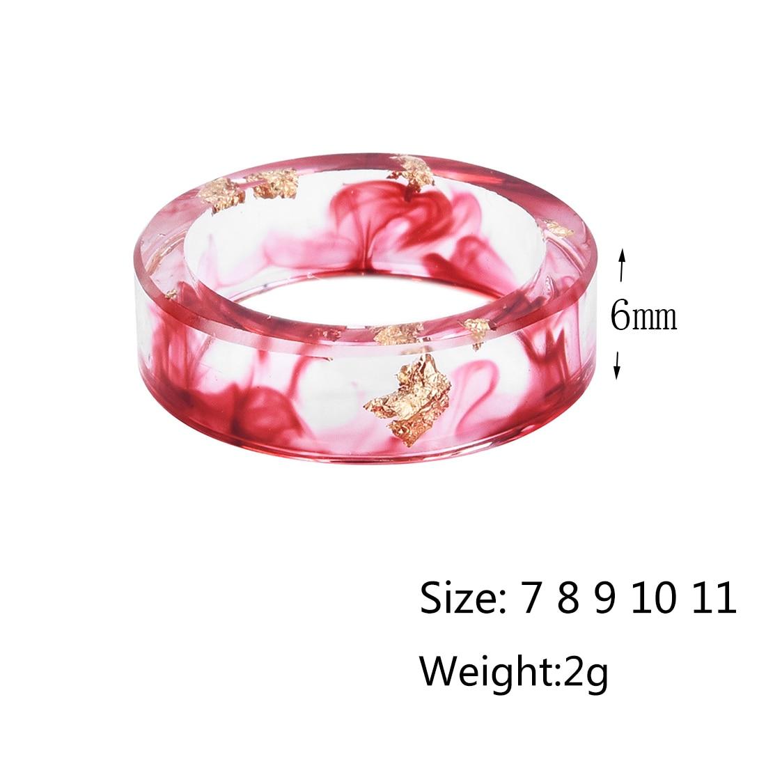 LIEBE ENGEL Hot Sale 8 Colors Gold Foil Paper Inside Resin Ring For ...