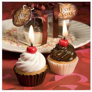 Креативный бездымный Ароматизированный крем и шоколадный Чак для детей, вечерние свечи для торта на день рождения и свадебные подарки