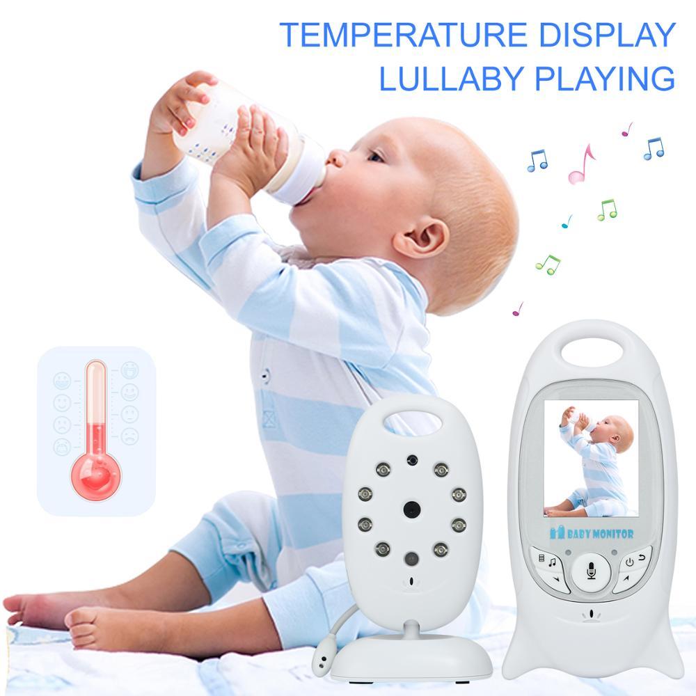 Moniteur bébé couleur vidéo sans fil babyfoon baba sécurité électronique 2 parler Nigh Vision LED surveillance de la température bebek telsizi - 2