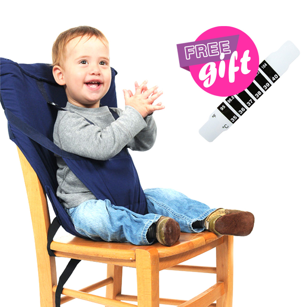 Portable Baby Lunch Dining Chair Travel Foldable Infants Feeding High Chair Infant Safety Harness Belt Kids Baby Eating Chairs