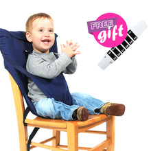 Portable Baby Lunch Dining Chair Travel Foldable Infants Feeding High Chair Infant Safety Harness Belt Kids Baby Eating Chairs portable baby chair happy baby feeding high chair for children feeding chairs plastic baby safety table chairs