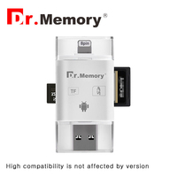 Micro Sd Card Reader For Apple Iphone 6s 7 Plus Pendrive Metal Expansion Android Phone OTG