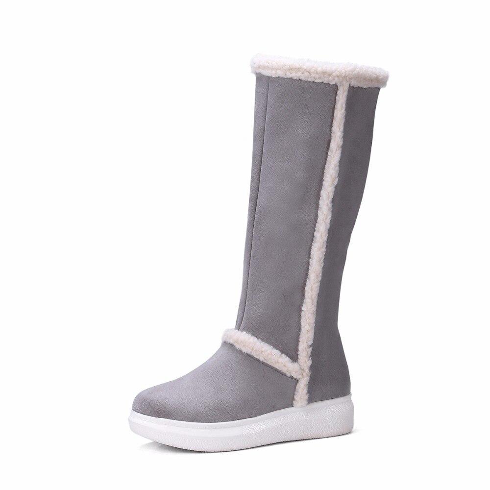 e041a9f61 2018 Winter Boots High Women Snow Boots Plush Warm Shoes Plus Size ...