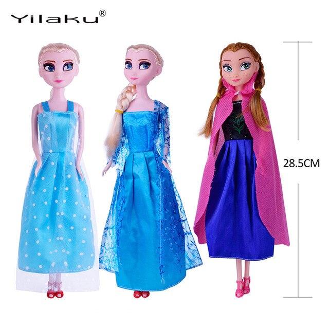 Princess Elsa Anna Baby Girls Dolls Cinderella Olaf Kids Toys for Girl Sharon Doll Brinquedos Meninas Hot Sale DD001