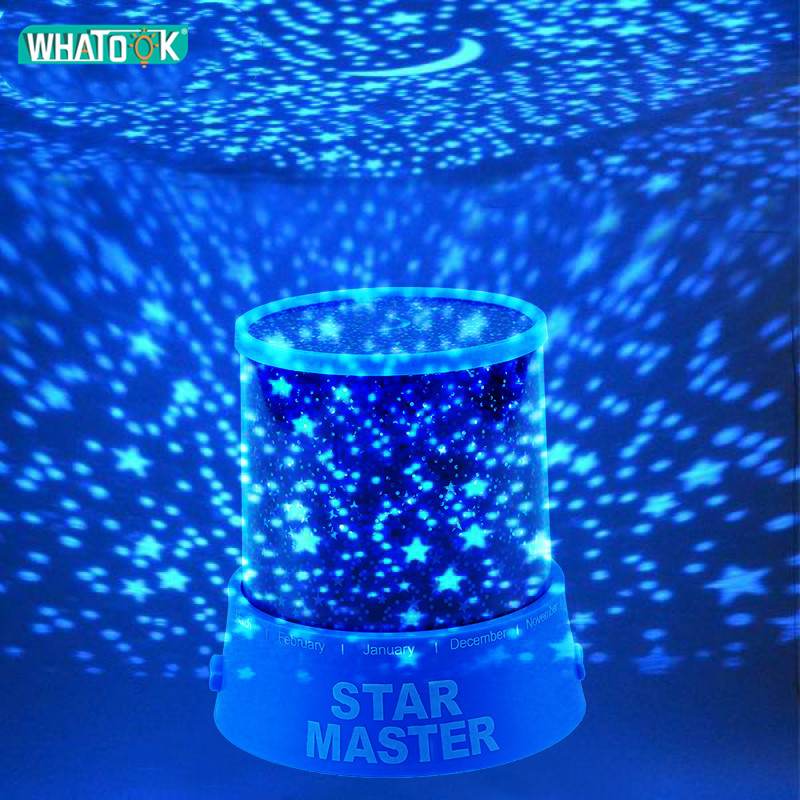 Star Master LED Projector Lamp Starry Sky Night Lights Cosmos Musical Rotating 3D Lighting Fairy Music Twinkle Universe Gifts DC