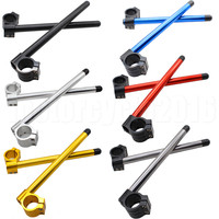 45MM FXCNC CNC Universal Motorcycles Adjustable Clip On Ons Handle Bar Fork 7 8 22mm Bar